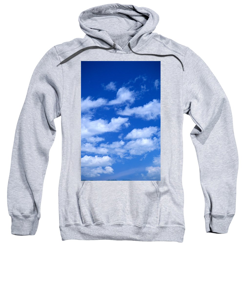 Air Sweatshirt featuring the photograph White Clouds by Kyle Rothenborg - Printscapes