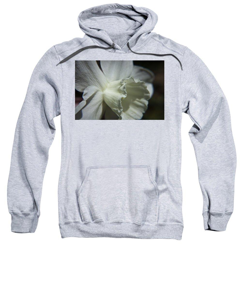 Flower Sweatshirt featuring the photograph White Daffodil by Teresa Mucha