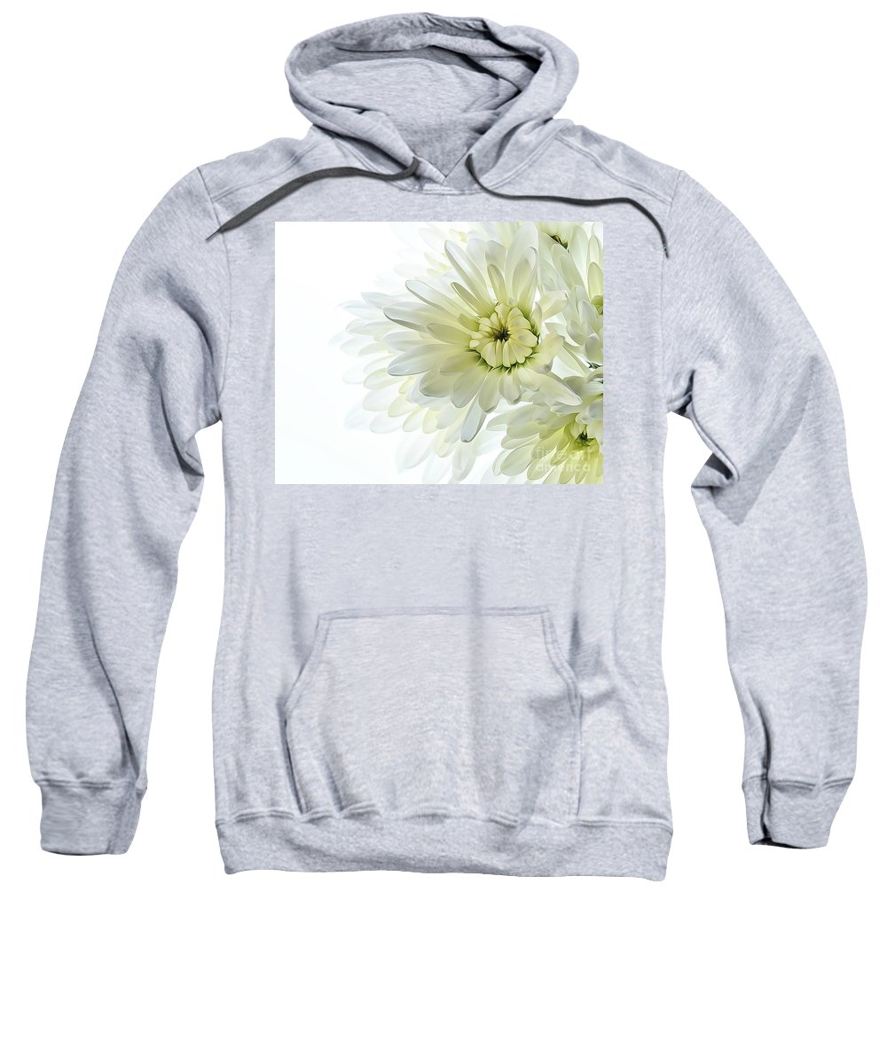 Flower Sweatshirt featuring the photograph White Floral by Kelly Merlini