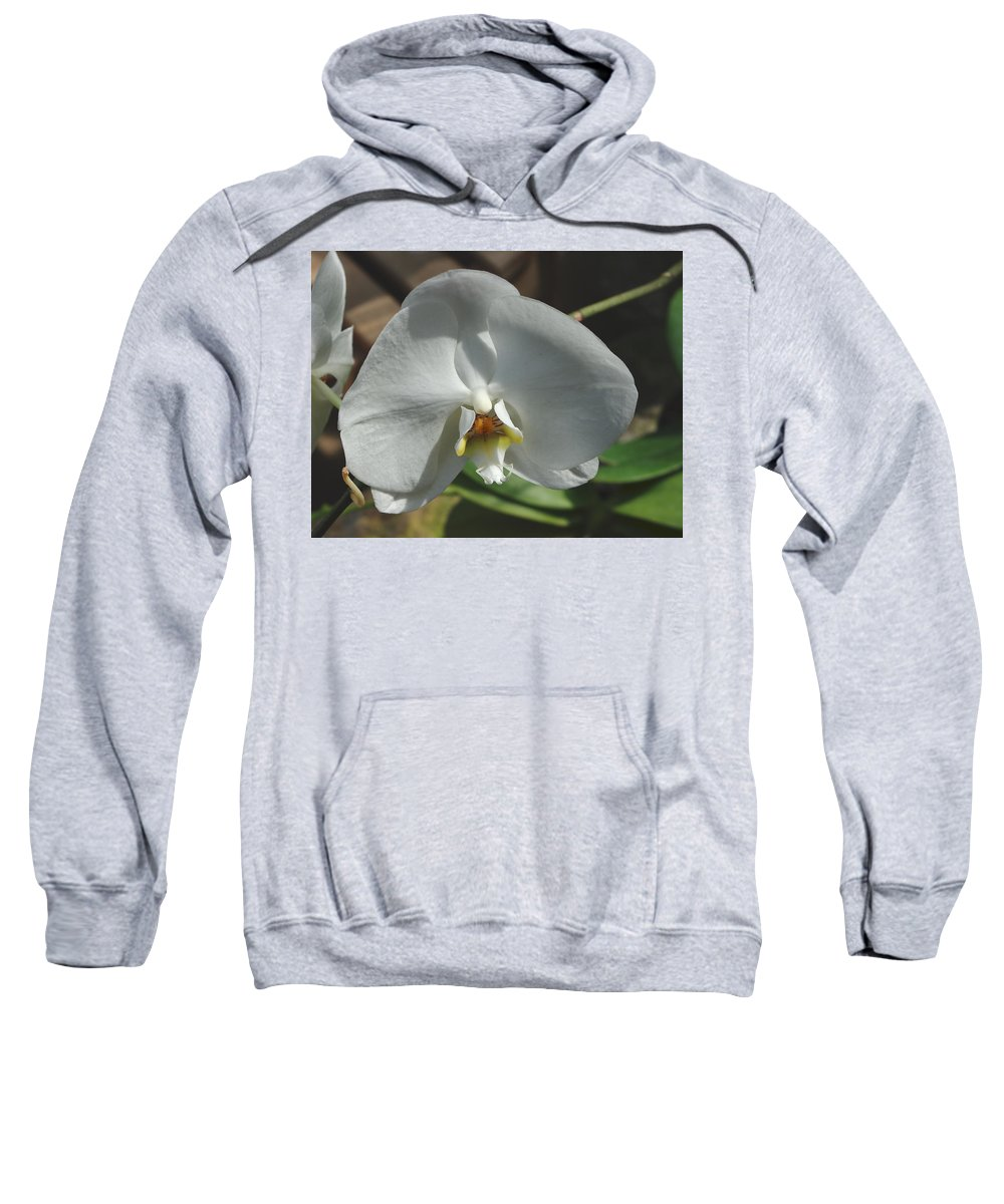 Flower Sweatshirt featuring the photograph White Flower by Alice Markham