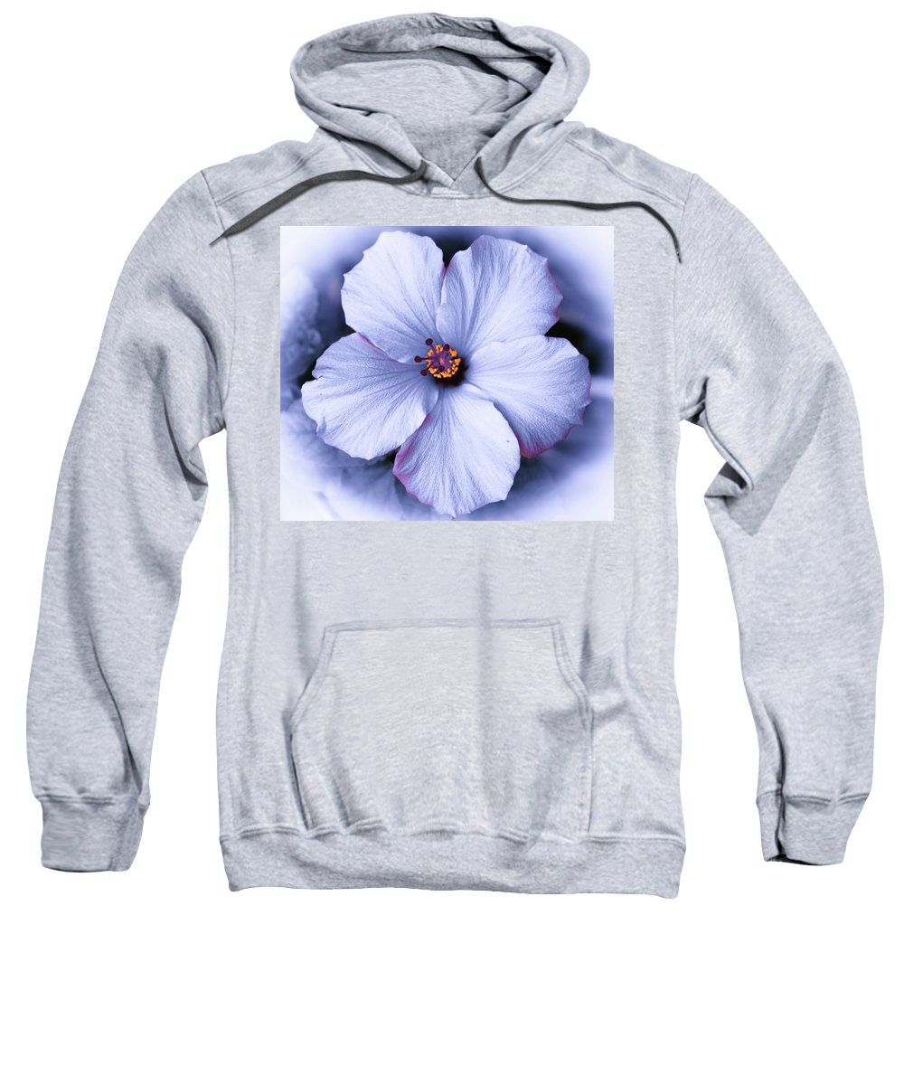 White Sweatshirt featuring the photograph White Flower by Michael Frizzell