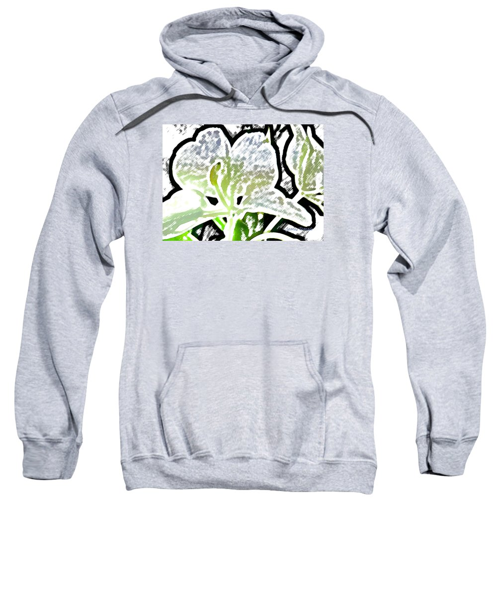 Ginger Sweatshirt featuring the digital art White Ginger by James Temple