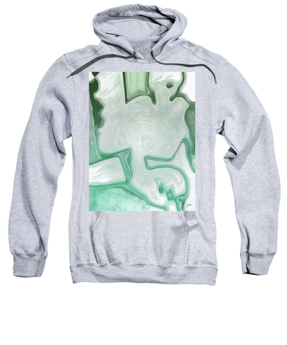 Abstract Sweatshirt featuring the digital art White Limbo by Joaquin Abella
