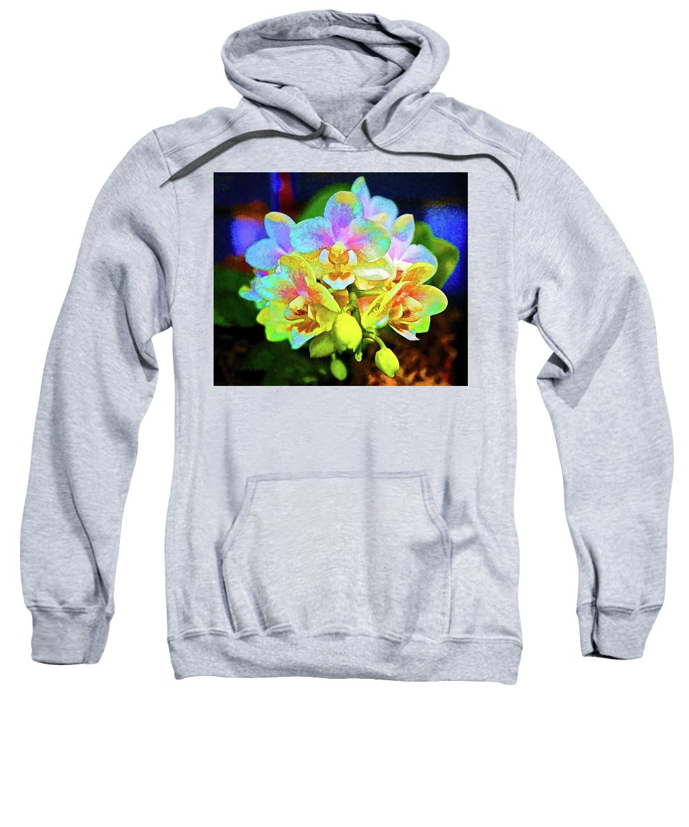 Orchid Sweatshirt featuring the photograph White Orchids Pastel by Kenneth Roberts