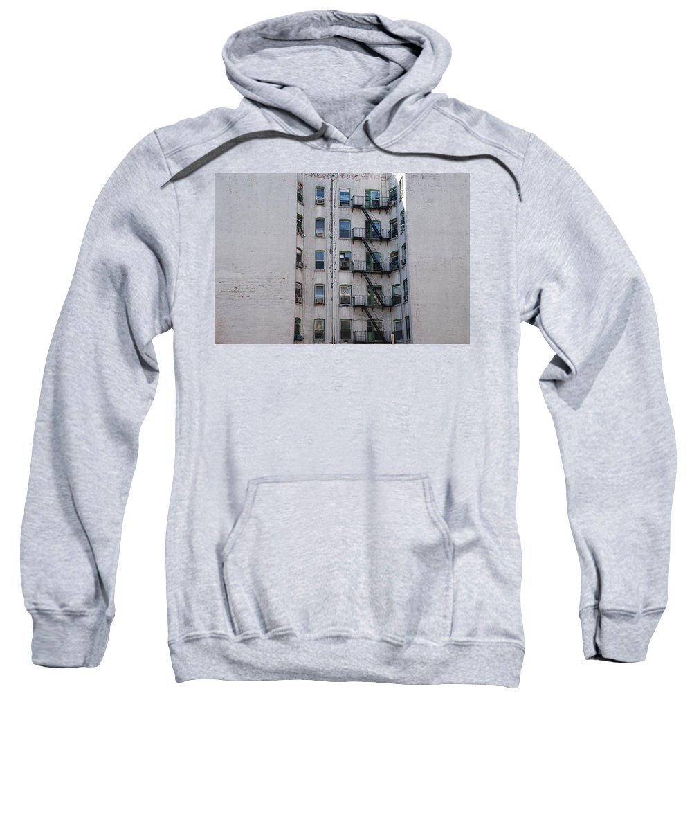 Street Scene Sweatshirt featuring the photograph White by Rob Hans