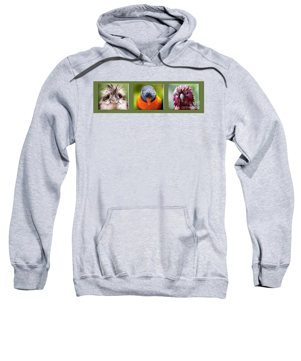 Kookaburra Sweatshirt featuring the photograph Who are you looking at? by Sheila Smart Fine Art Photography