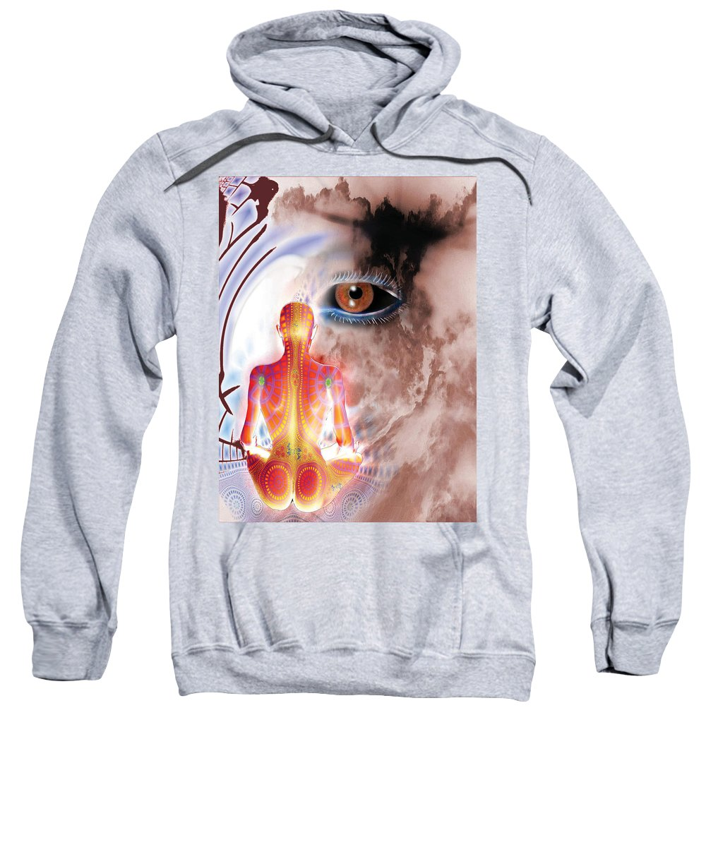 Eye Sweatshirt featuring the digital art Whose I Is Eckharts Eye by Tony Macelli