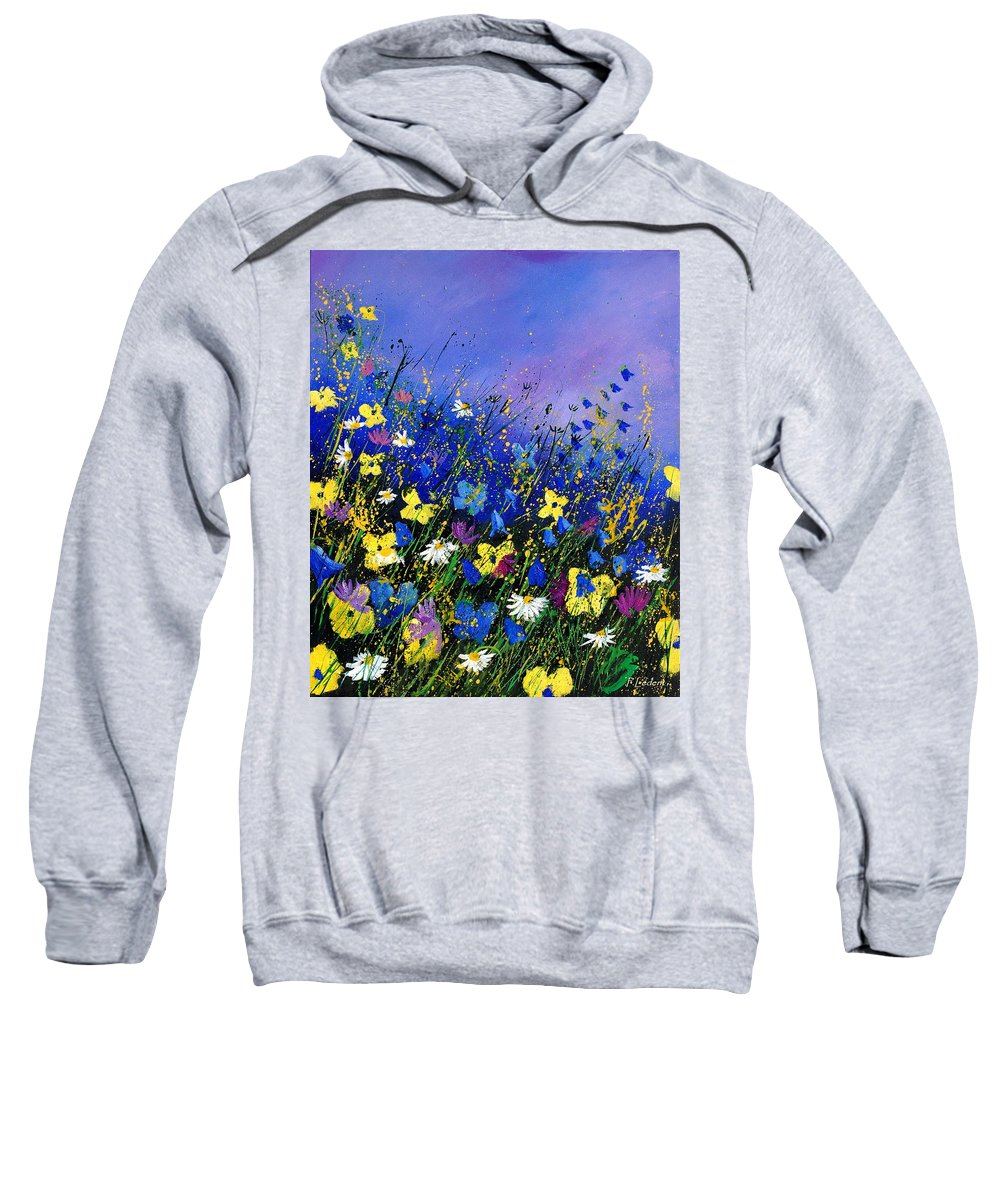 Flowers Sweatshirt featuring the painting Wild Flowers 560908 by Pol Ledent