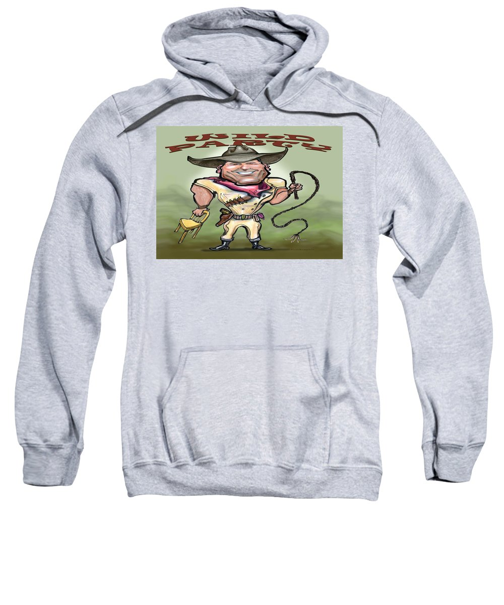Wild Party Sweatshirt featuring the greeting card Wild Party by Kevin Middleton