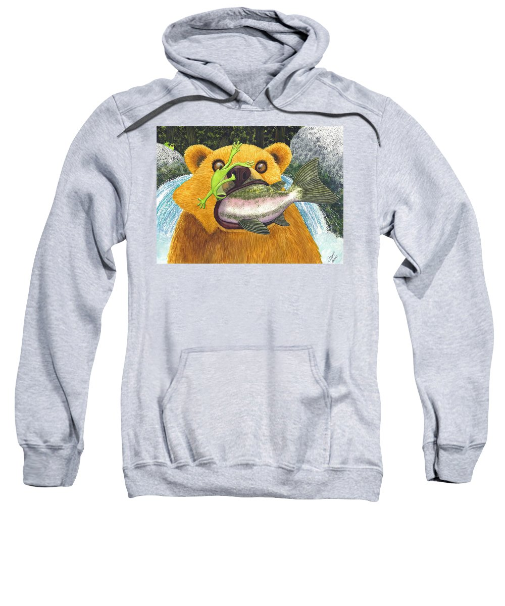 Bear Sweatshirt featuring the painting Wild Ride by Catherine G McElroy