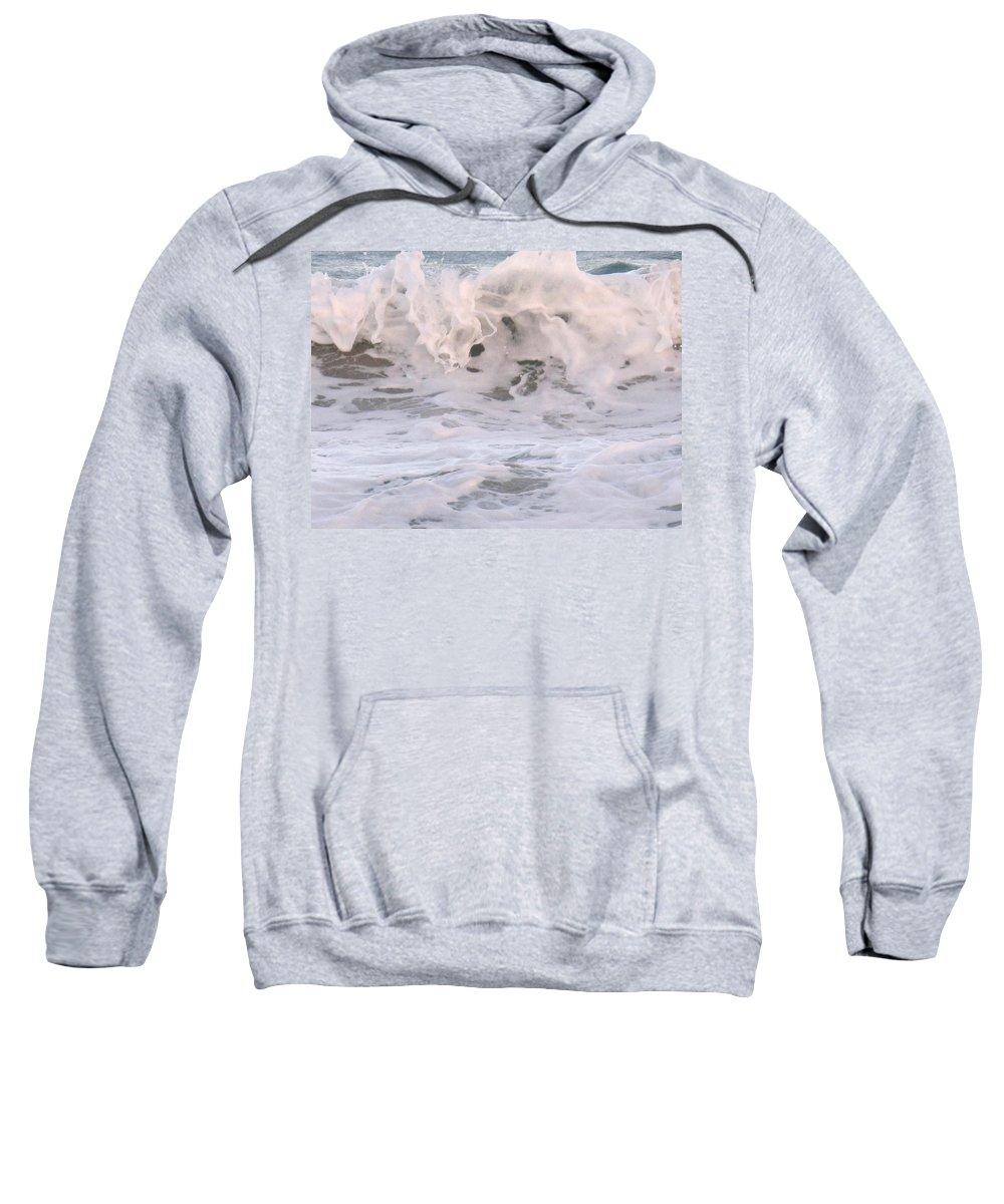 Surf Sweatshirt featuring the photograph Wild Surf by Ian MacDonald