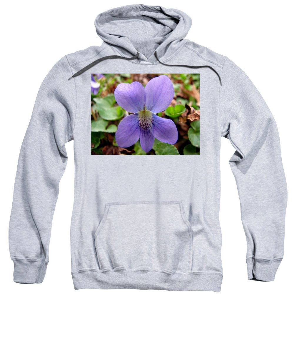Violet Sweatshirt featuring the photograph Wild Violet 2 by J M Farris Photography