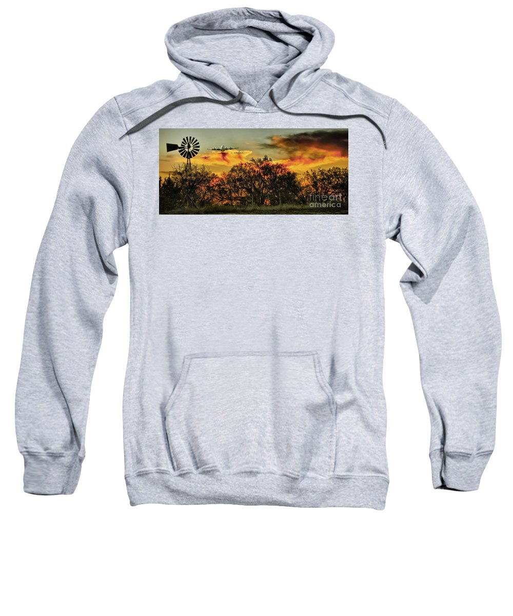 Fire Sweatshirt featuring the photograph Wildfire C-130 by Robert Frederick