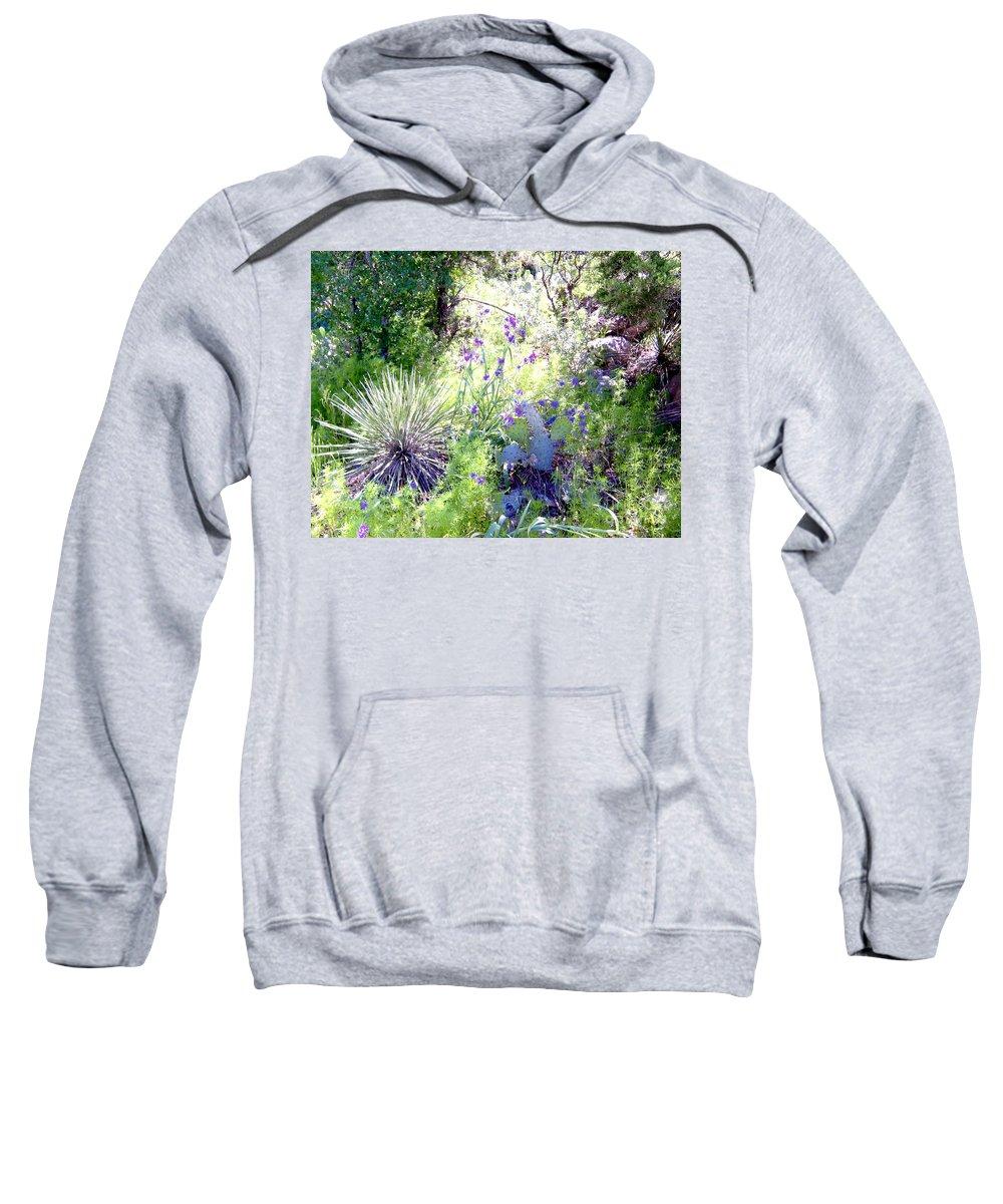 Wildflowers And Cactuses Prints Sweatshirt featuring the photograph Wildflowers And Cactuses by Ruth Housley