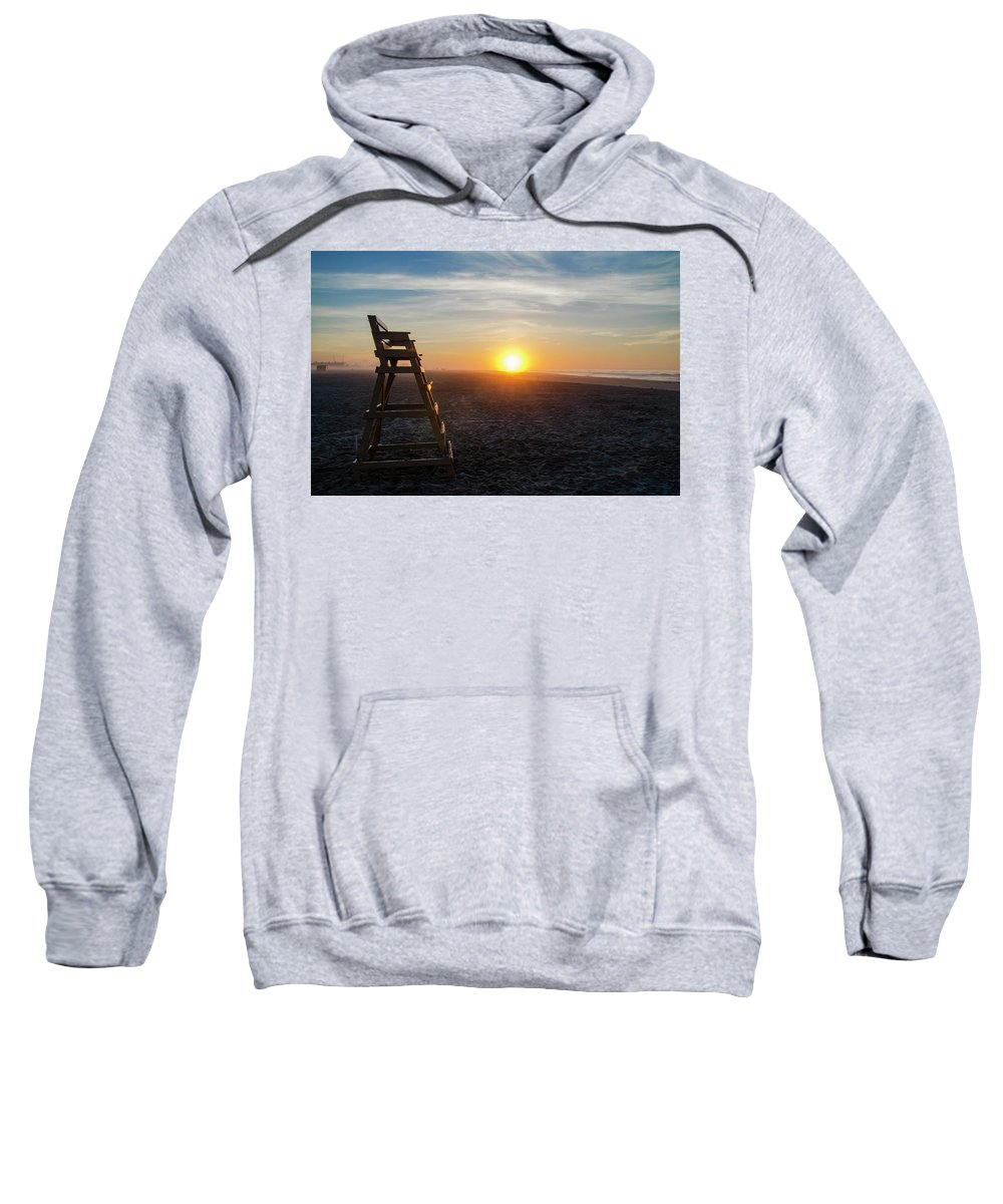 Wildwood Sweatshirt featuring the photograph Wildwood New Jersey - Peaceful Morning by Bill Cannon