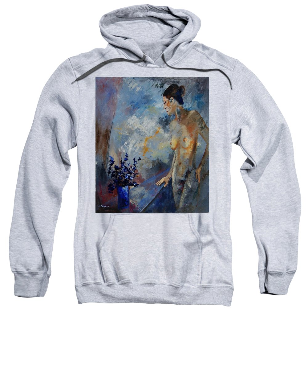 Girl Sweatshirt featuring the painting Will He Be Coming by Pol Ledent