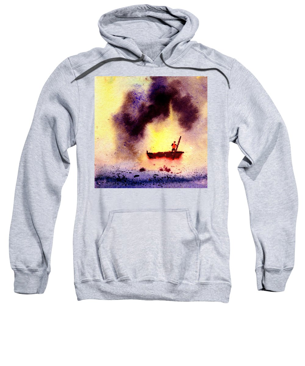 Landscape Sweatshirt featuring the painting Will Power by Anil Nene