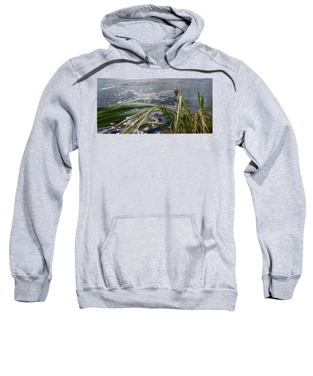 Nature Sweatshirt featuring the photograph Wind And Water by Ruth Kamenev