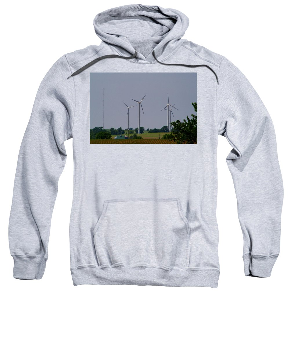 Wind Sweatshirt featuring the photograph Wind Generators by Kathryn Meyer