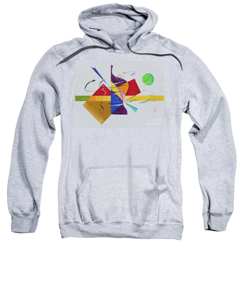 Contemporary Abstract Modern Sweatshirt featuring the painting Wind Me Up by Robyn Little