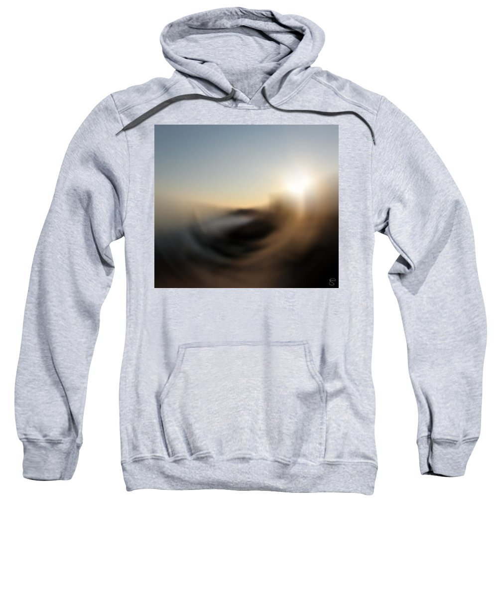 Abstract Sweatshirt featuring the digital art Wind by Stacey May