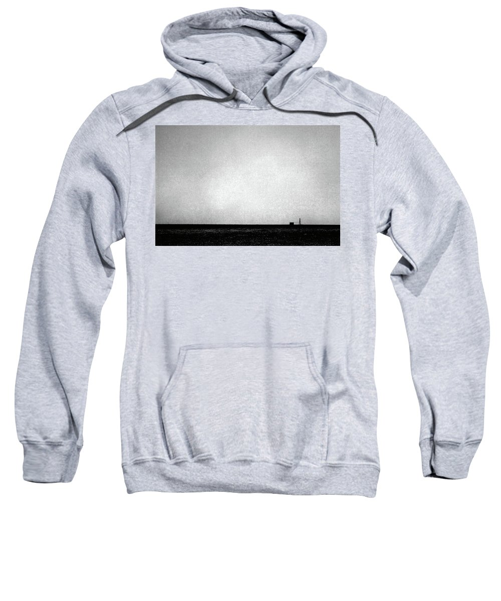 Wasteland Sweatshirt featuring the photograph Windmill In Black And White by Scott Sawyer