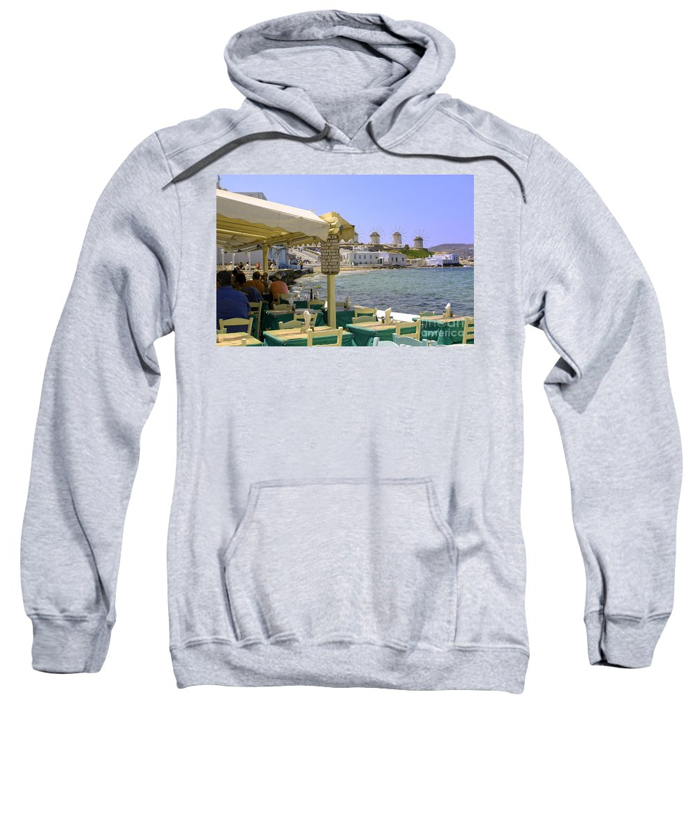 Windmills Sweatshirt featuring the photograph Windmill View by Madeline Ellis