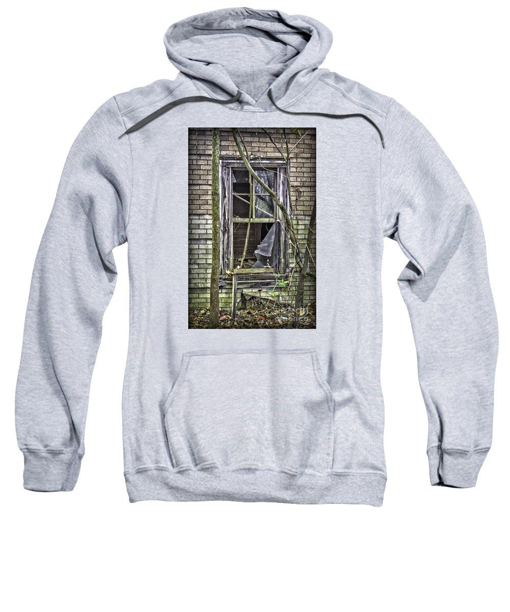 Window Sweatshirt featuring the photograph Window And Door 2 by Walt Foegelle