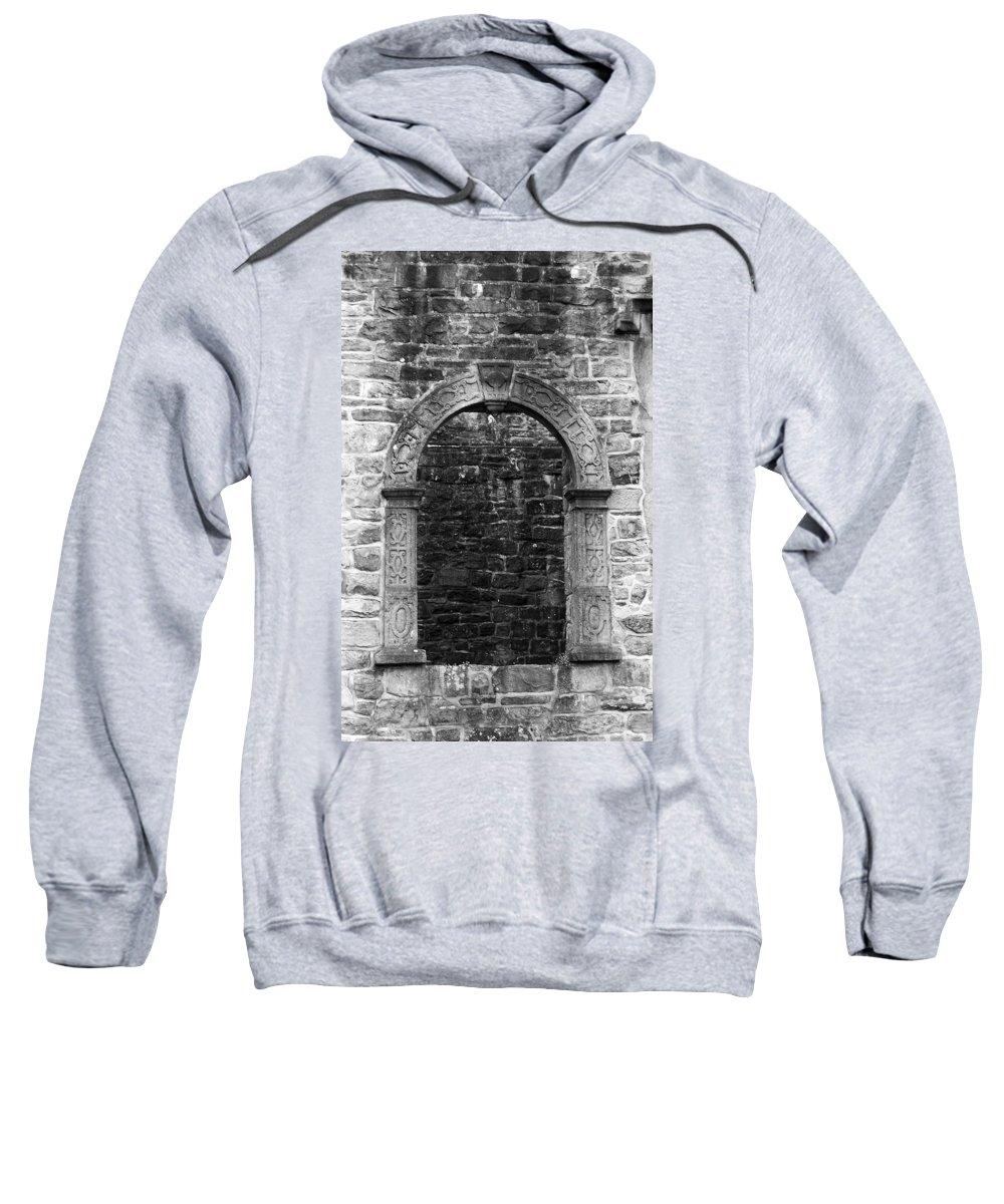 Irish Sweatshirt featuring the photograph Window At Donegal Castle Ireland by Teresa Mucha