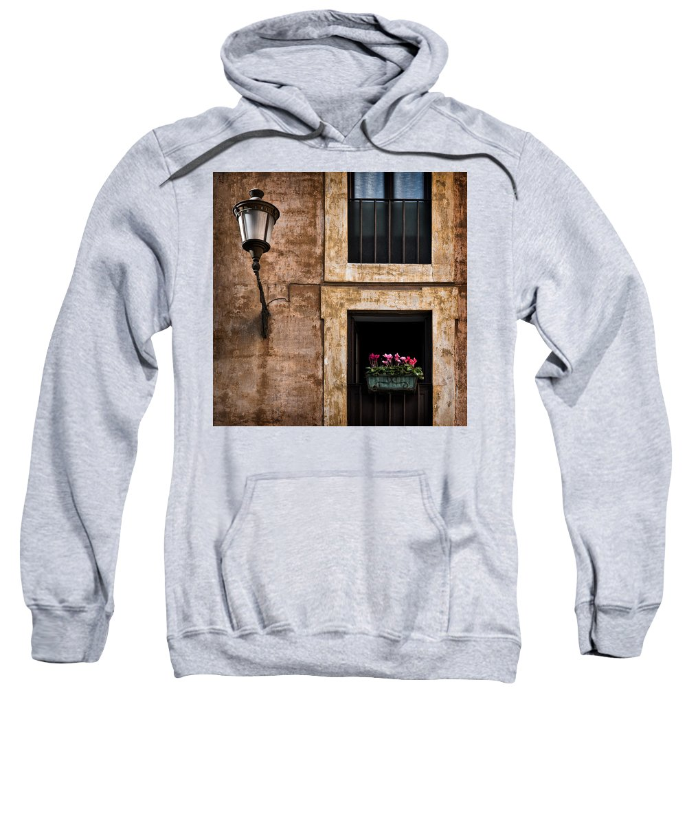 Window Box Sweatshirt featuring the photograph Window Box by Dave Bowman