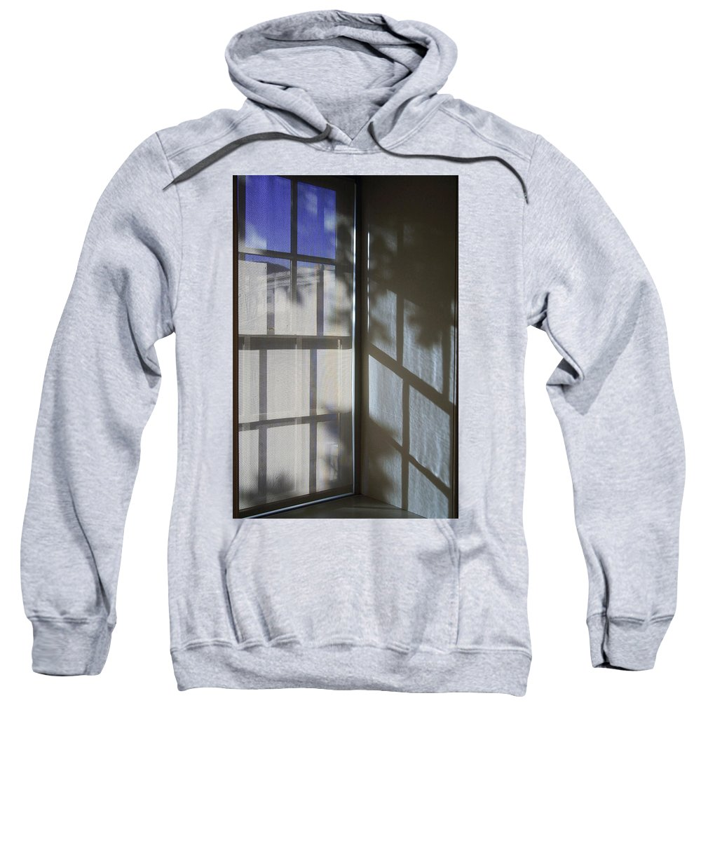 Window Sweatshirt featuring the photograph Window Lines by Cora Wandel