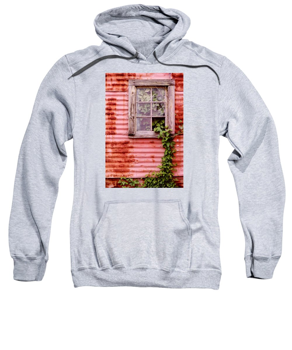 Window Sweatshirt featuring the photograph Window Of Ivy by Andrew Giovinazzo