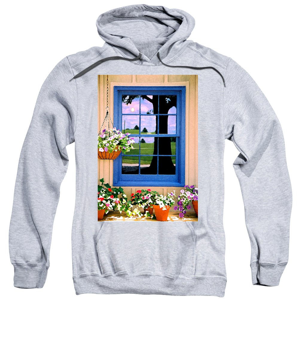 Still Life Sweatshirt featuring the photograph Window by Steve Karol