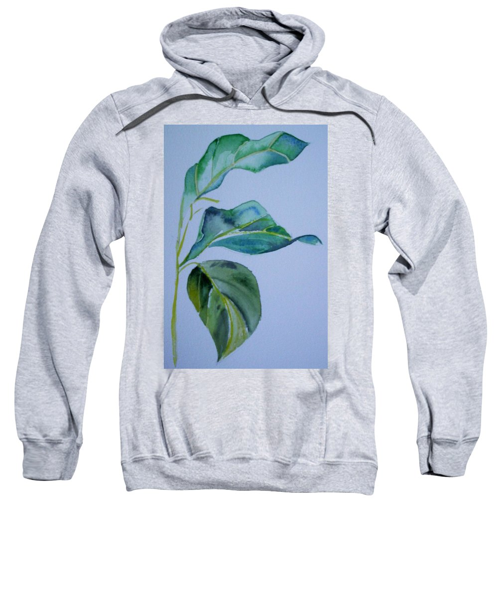 Nature Sweatshirt featuring the painting Window View by Suzanne Udell Levinger