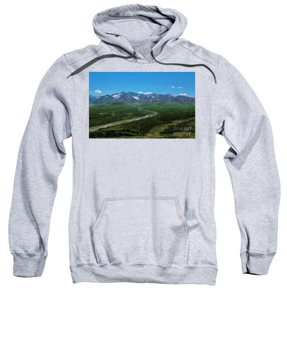 Alaska Sweatshirt featuring the photograph Windy River by Grant Bolei