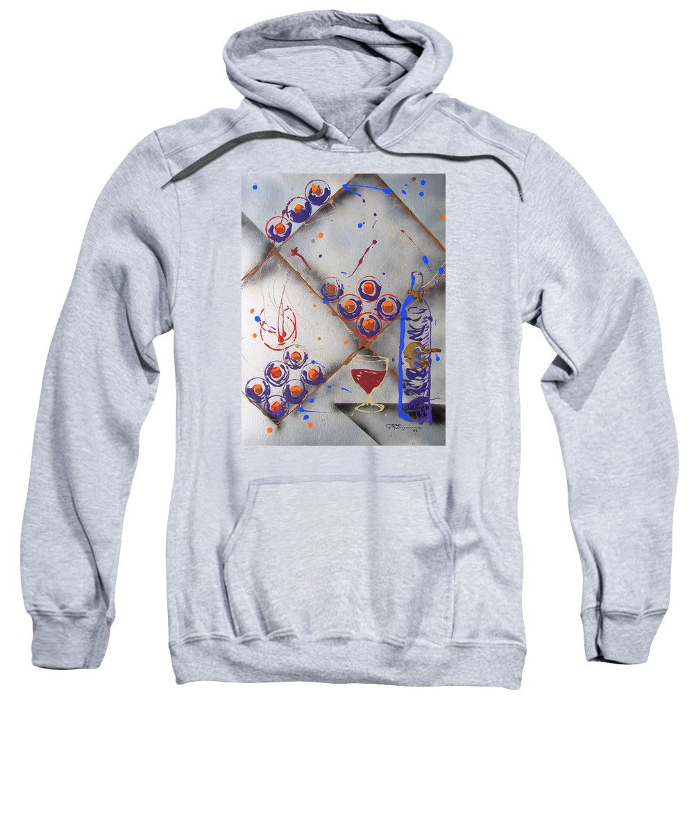 Wine Sweatshirt featuring the painting Wine Connoisseur by J R Seymour