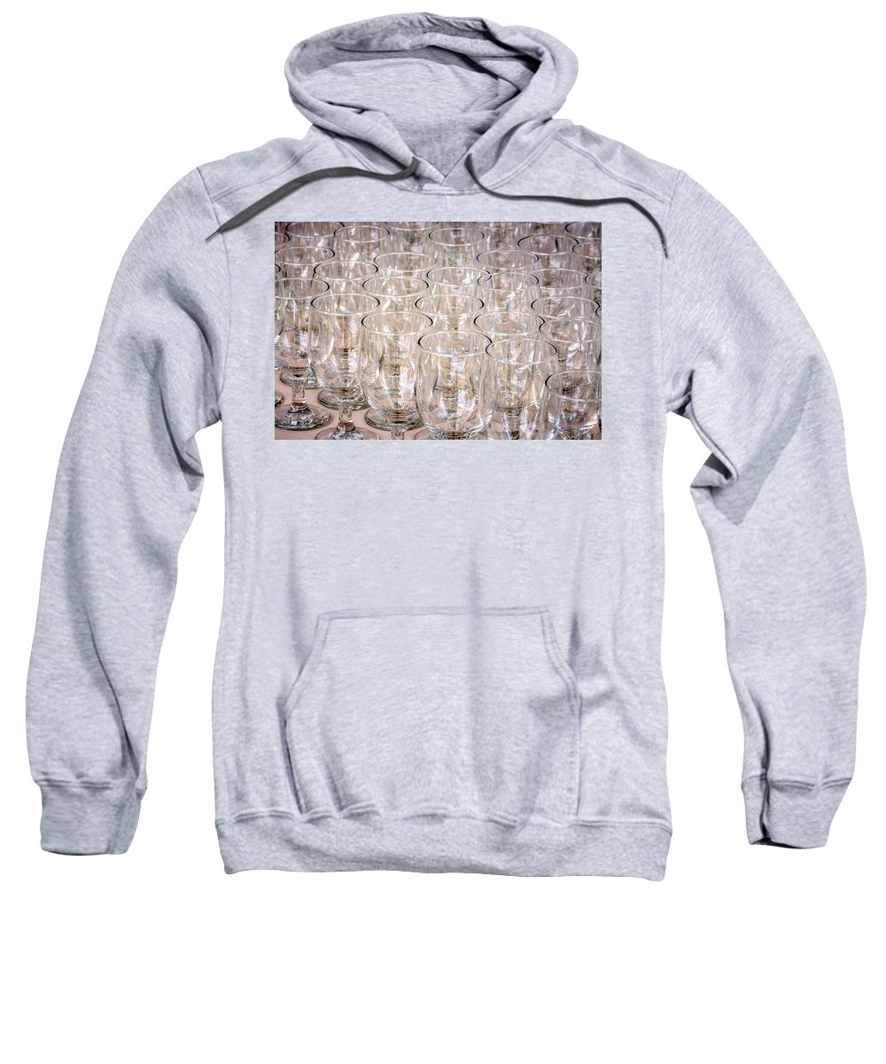 Restaurant Sweatshirt featuring the photograph Wine Glasses by Jijo George