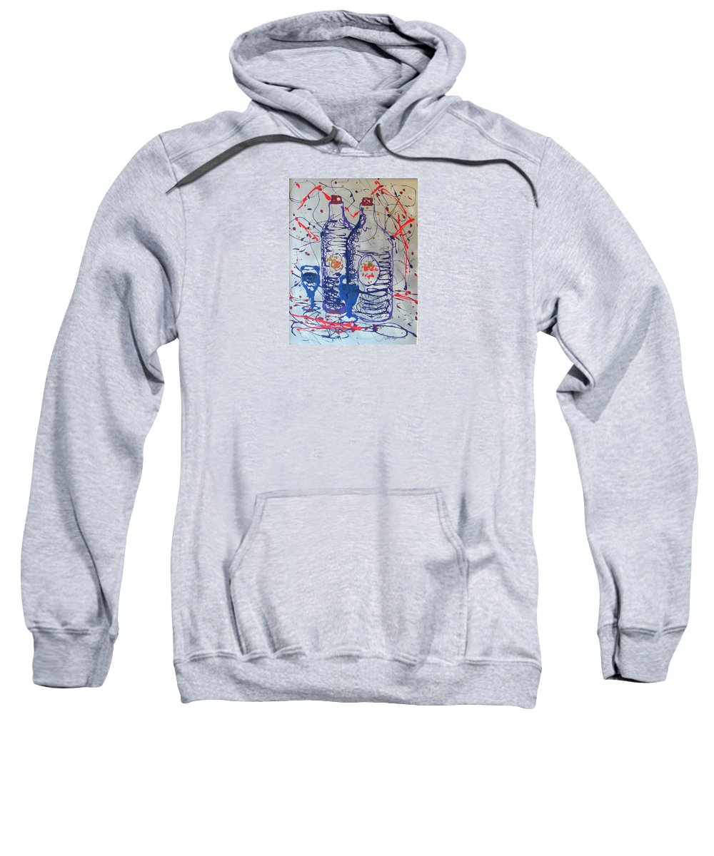 Impressionist Painting Sweatshirt featuring the painting Wine Jugs by J R Seymour