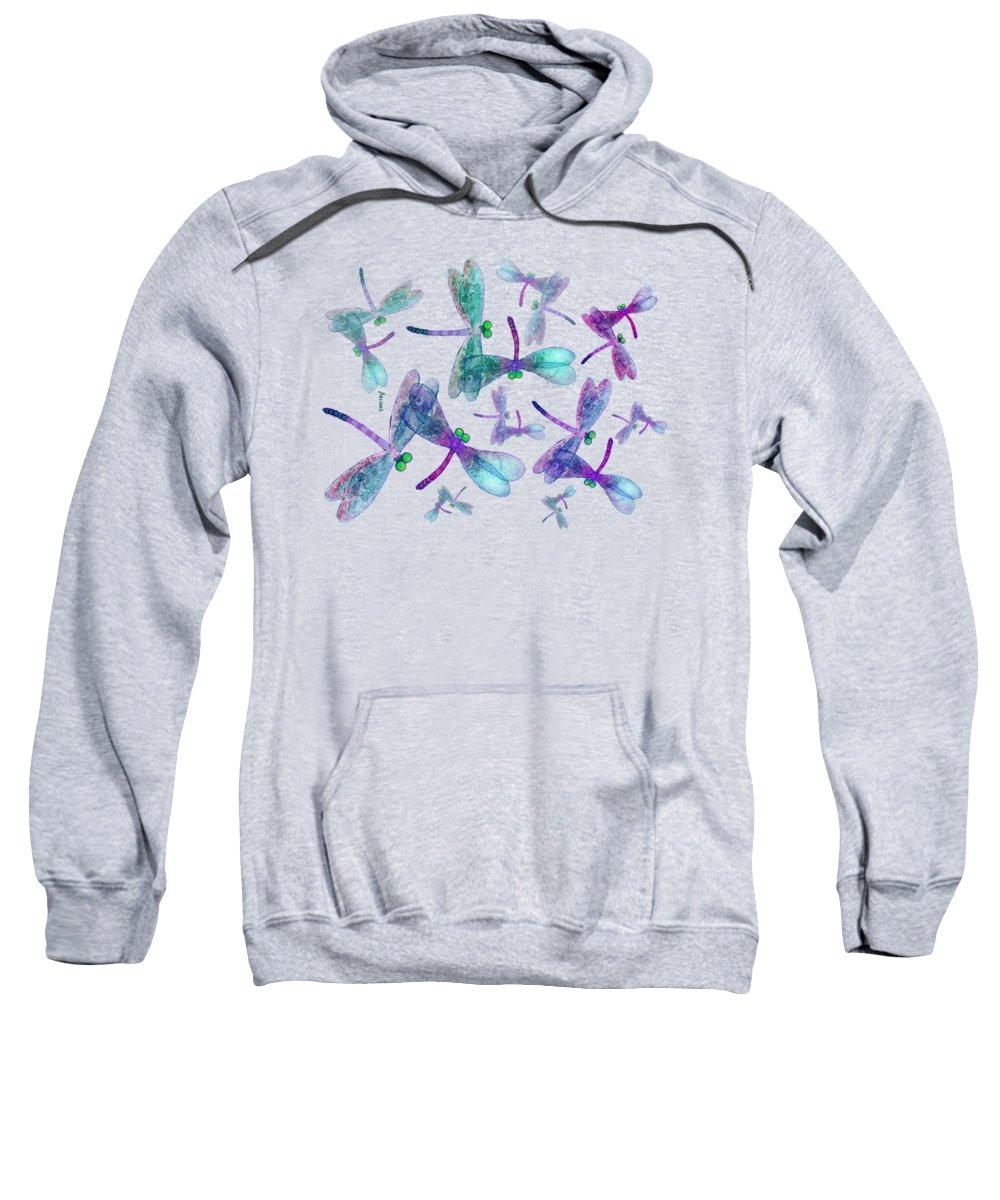 Wings Sweatshirt featuring the mixed media Wings Shirt Image by Teresa Ascone