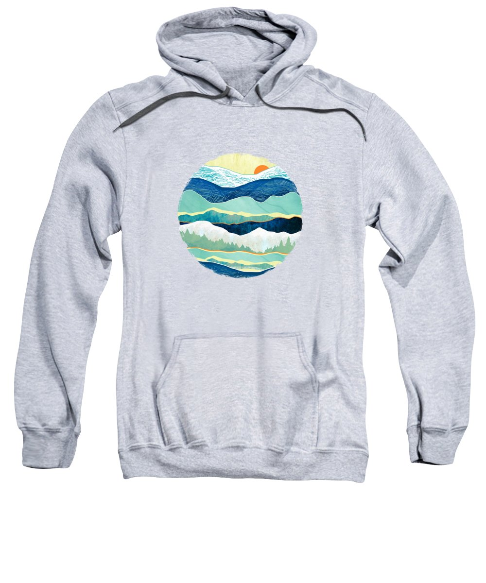 Winter Sweatshirt featuring the digital art Winter Afternoon by Spacefrog Designs
