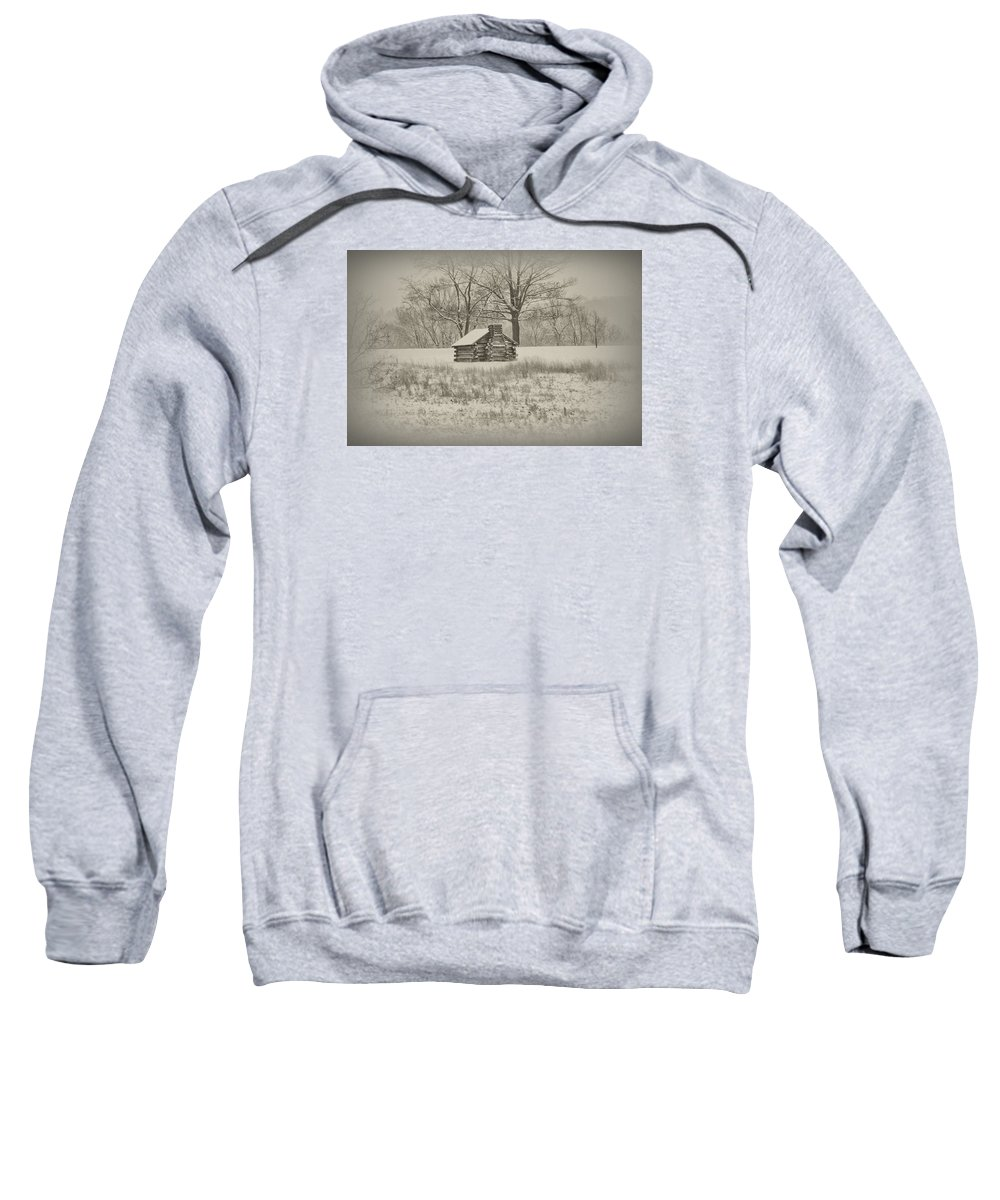Winter Sweatshirt featuring the photograph Winter At Valley Forge by Bill Cannon