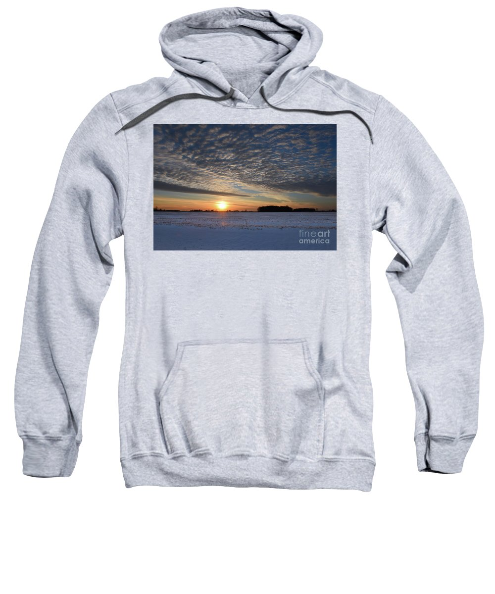 Snow Sweatshirt featuring the photograph Winter Blue by Charles Owens