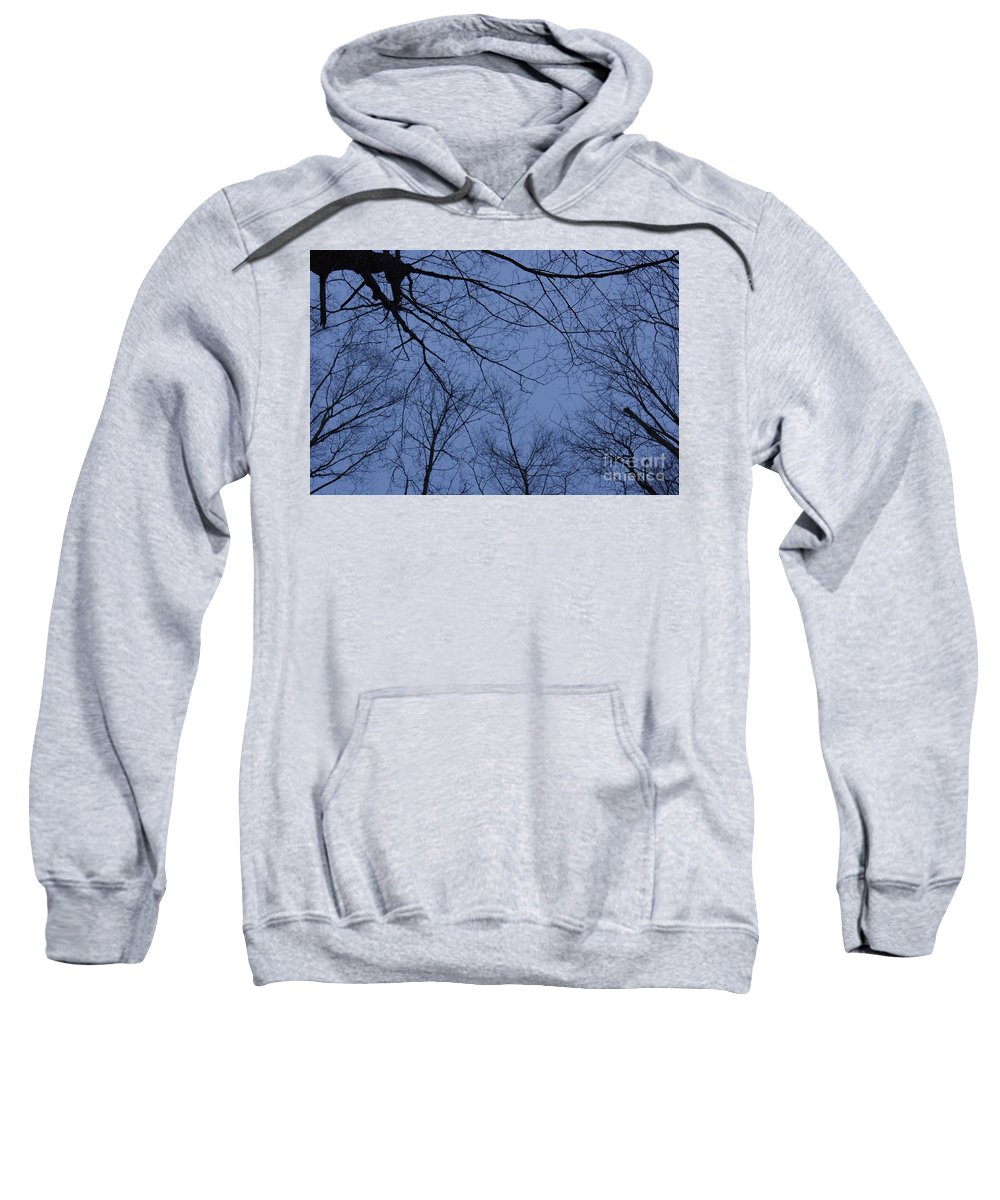 Cmouai Sweatshirt featuring the photograph Winter Blue Sky by Line Gagne