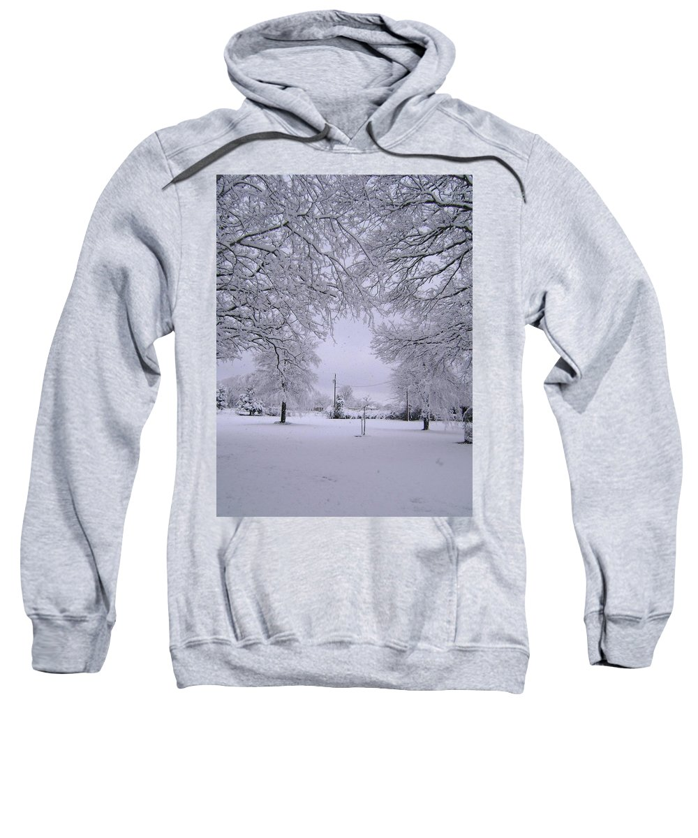 Landscape Sweatshirt featuring the photograph Winter by Deborah Reed