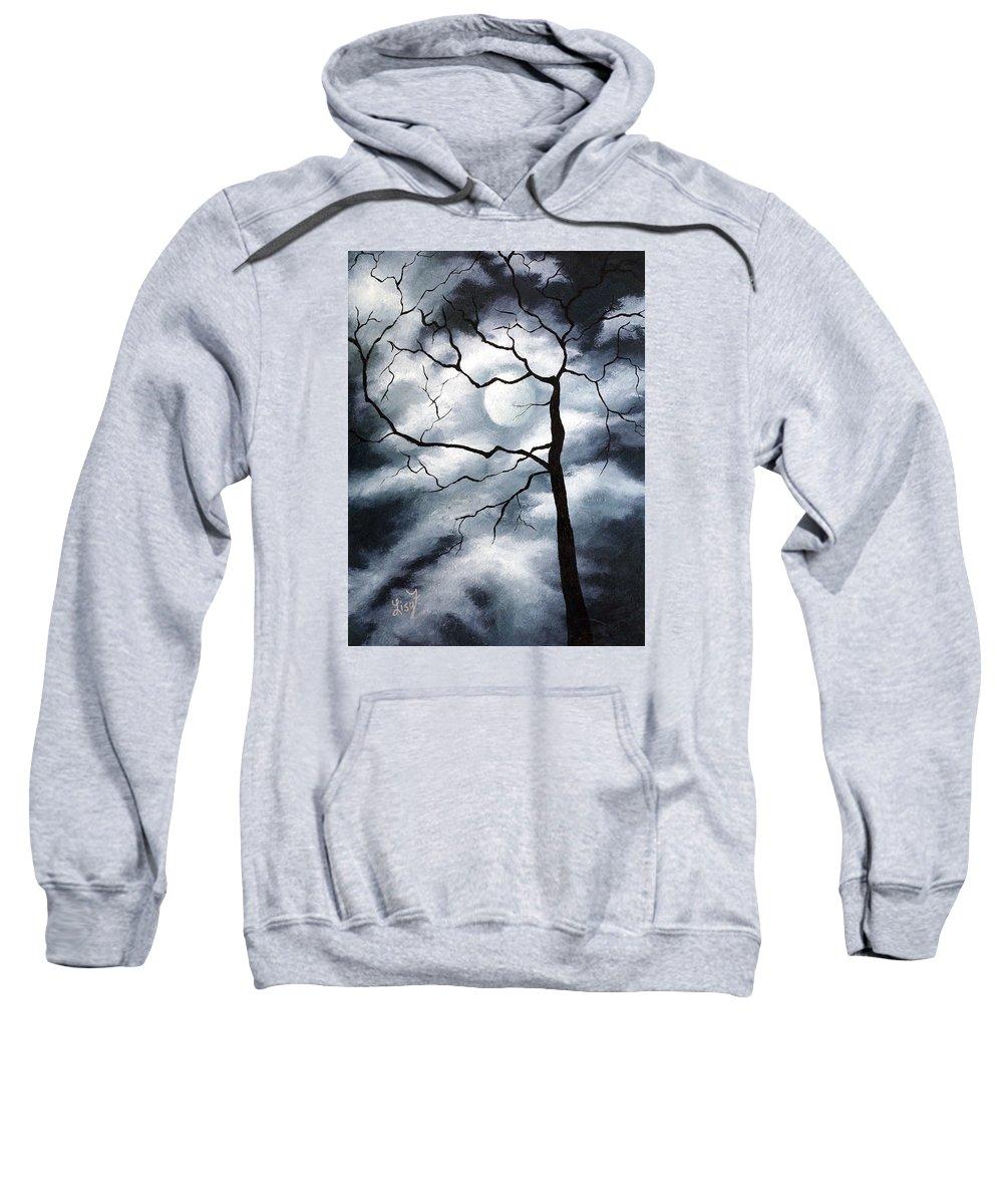 Winter Sweatshirt featuring the painting Winter Evening by Elizabeth Lisy Figueroa