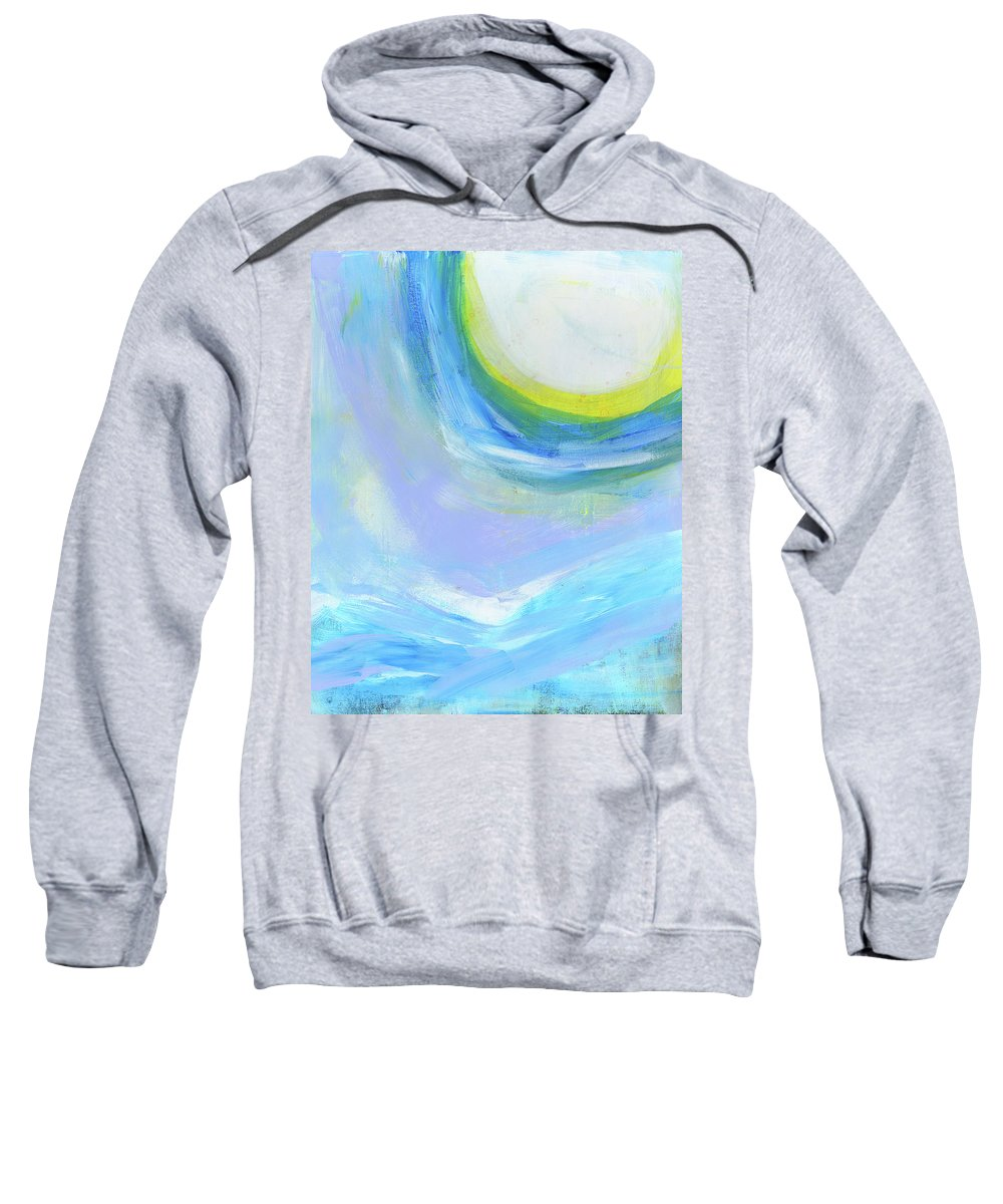 Abstract Sweatshirt featuring the painting Winter High by Tonya Doughty