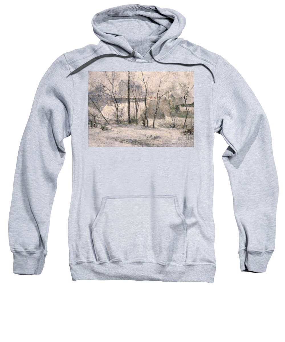 Trees Sweatshirt featuring the painting Winter Landscape by Paul Gauguin