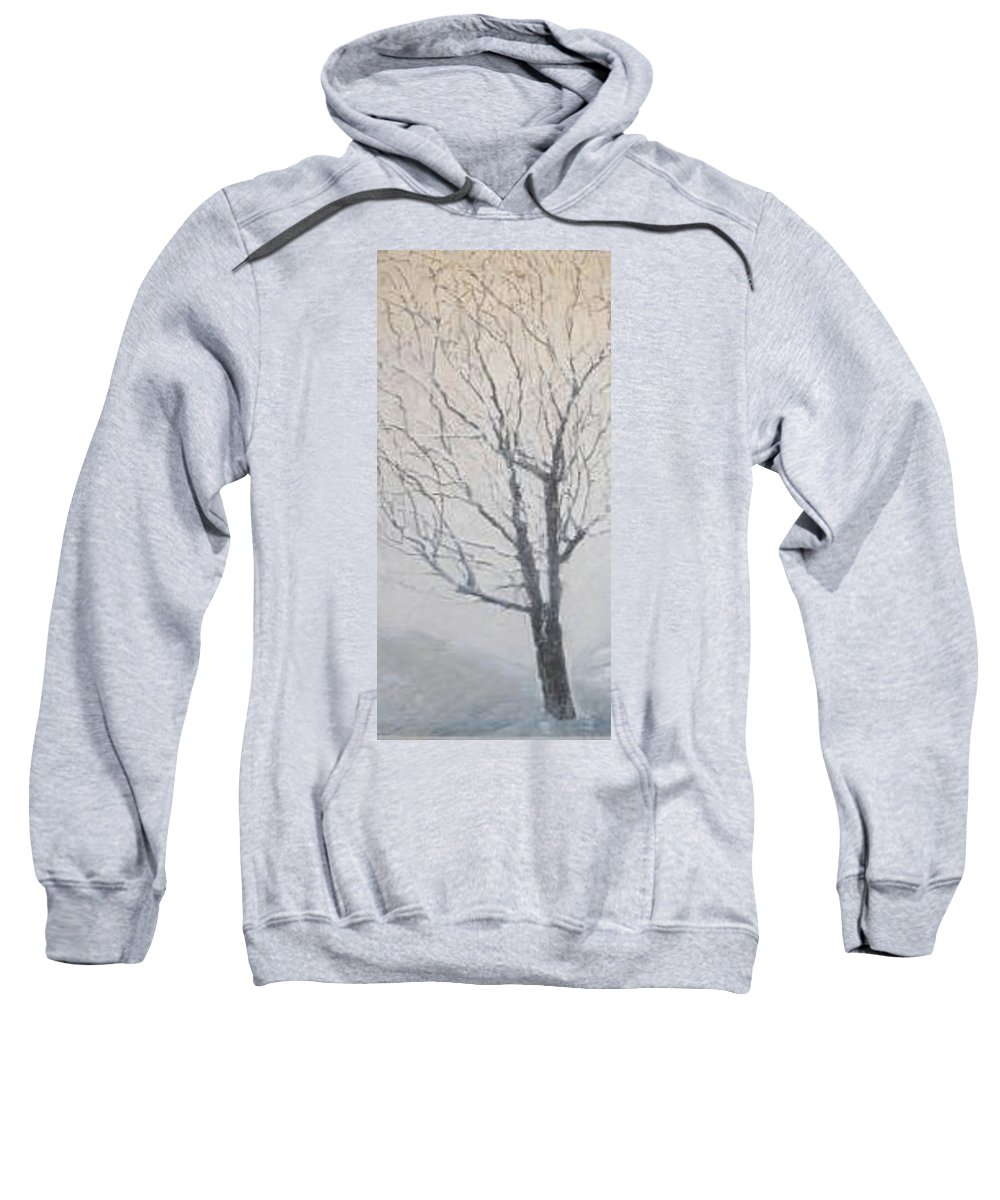 Tree Sweatshirt featuring the painting Winter by Leah Tomaino