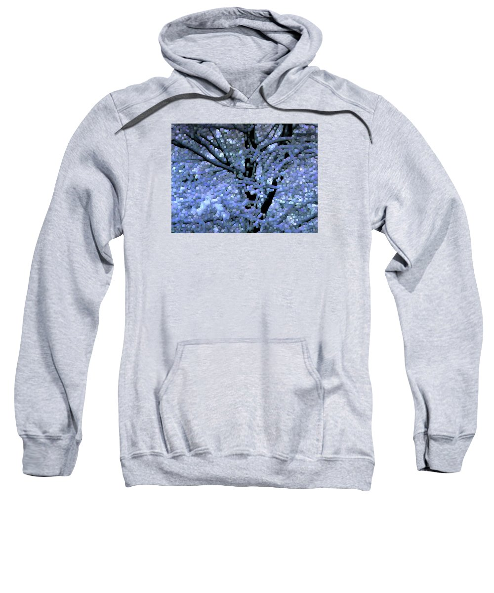 Abstract Sweatshirt featuring the digital art Winter Light by Dave Martsolf