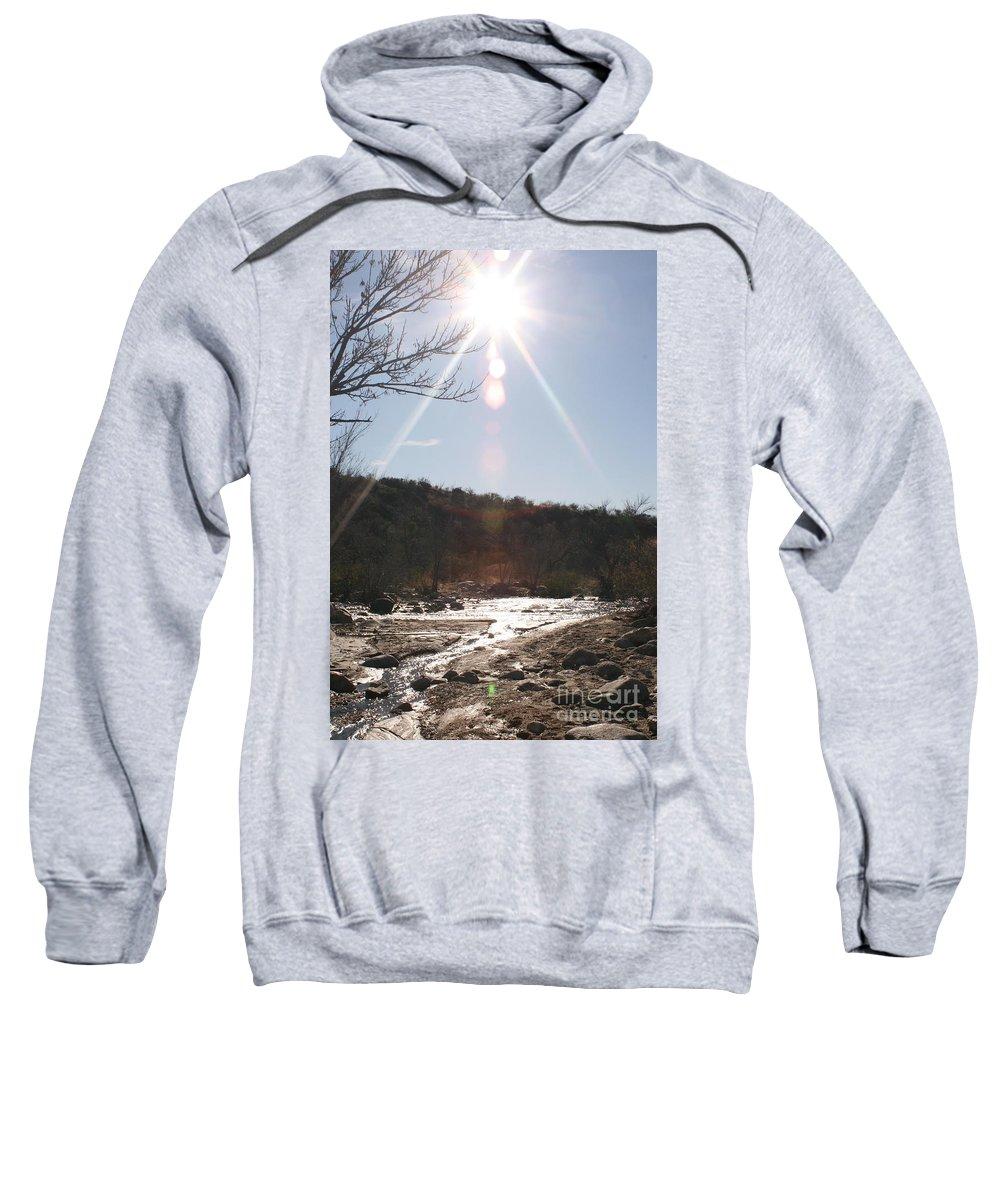 Winter Sweatshirt featuring the photograph Winter Light by Nadine Rippelmeyer